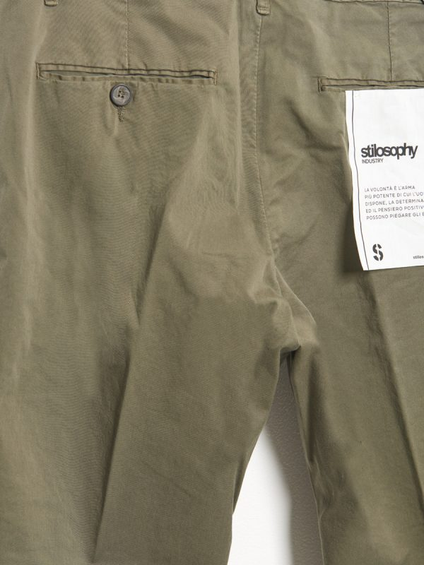 Basic Chino Trousers Military Green for men - Stilosophy Industry