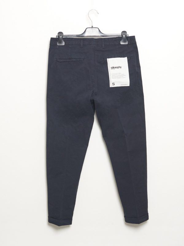 Chino trousers with blue pleats for Man - Stilosophy Industry